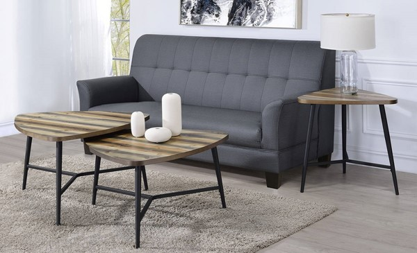 Picket House Gibson Natural 3pc Coffee Table Set PKT-CTB100-OCT-S1