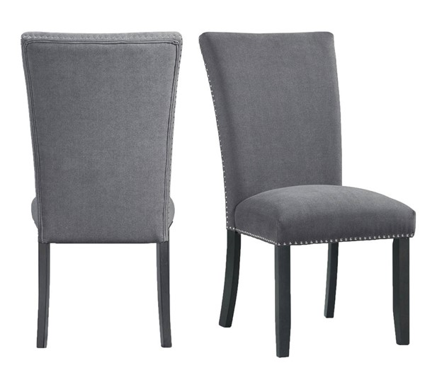 2 Picket House Stratton Charcoal Dining Side Chairs PKT-CTC130SC