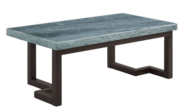 Picket House Cypher Gray Marble Rectangular Coffee Table PKT-CTKM800CTE