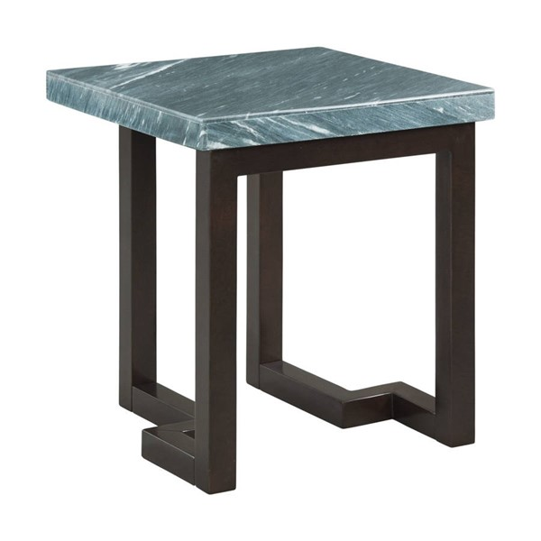Picket House Cypher Gray Marble Square End Table PKT-CTKM800ETE