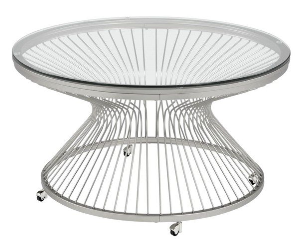 Picket House Poppy Chrome Round Coffee Table PKT-CTLV100CTTBE