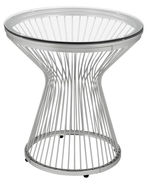Picket House Poppy Chrome Round End Table PKT-CTLV100ETE