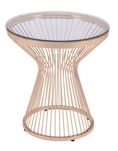 Picket House Poppy Gold Round End Table PKT-CTLV200ETE
