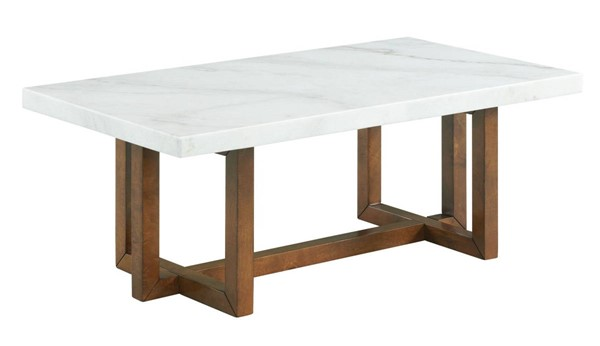 Picket House Meyers White Marble Rectangular Coffee Table PKT-CTMS100CTE