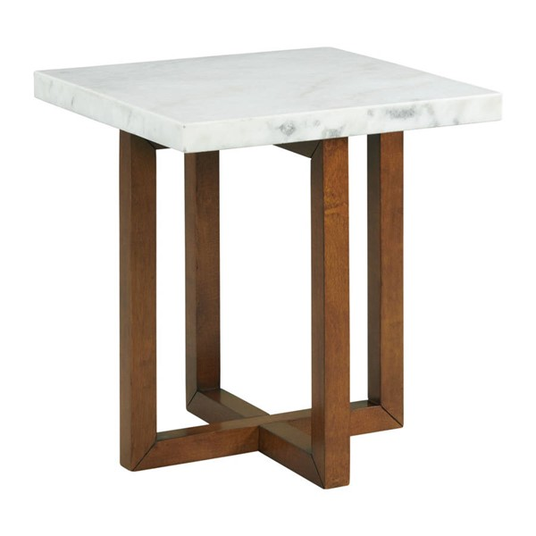 Picket House Meyers White Marble Square End Table PKT-CTMS100ETE