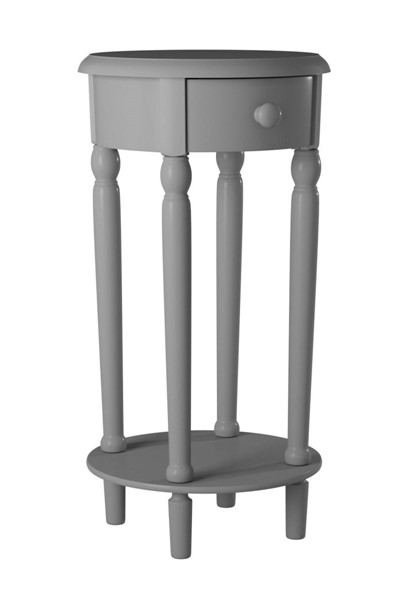 Picket House Neo Grey Wood Round Side Table PKT-CTNC300NS