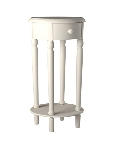 Picket House Neo White Wood Round Side Table PKT-CTNC700NS