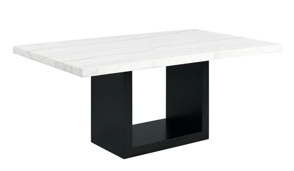 Picket House Willow White Marble Standard Height Dining Table PKT-CVL500DTB