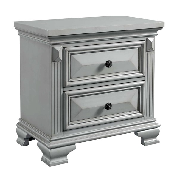 Picket House Trent Grey 2 Drawers Nightstand PKT-CY350NS