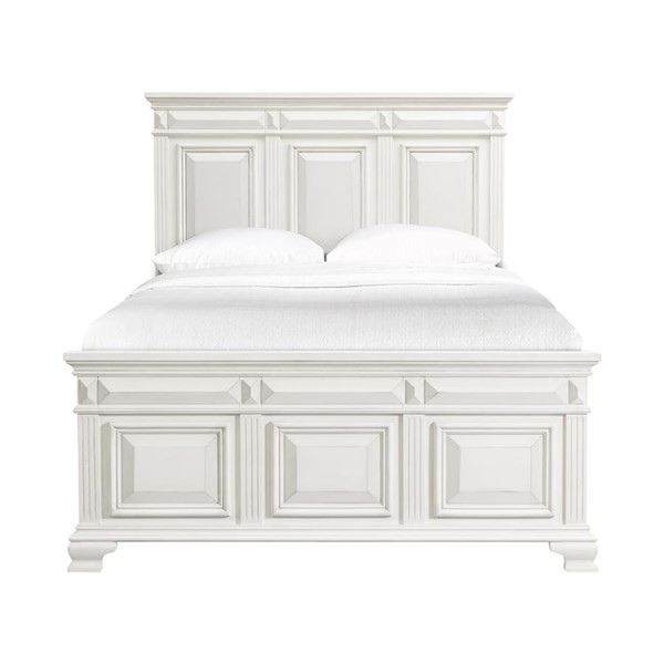 Picket House Trent White Wood Queen Panel Bed PKT-CY700QB