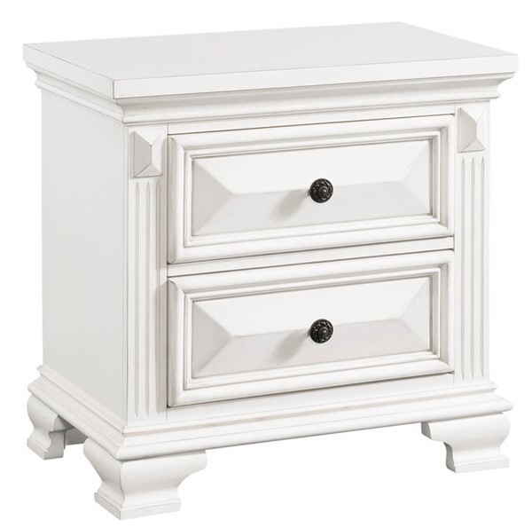 Picket House Trent White 2 Drawers Nightstand PKT-CY750NS