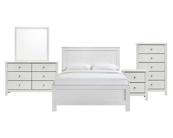 Picket House Camila White 5pc Bedroom Set with Full Bed PKT-CI700F5PC