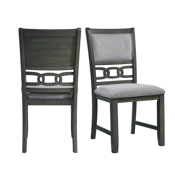 2 Picket House Taylor Gray Fabric Side Chairs PKT-DAH300SC