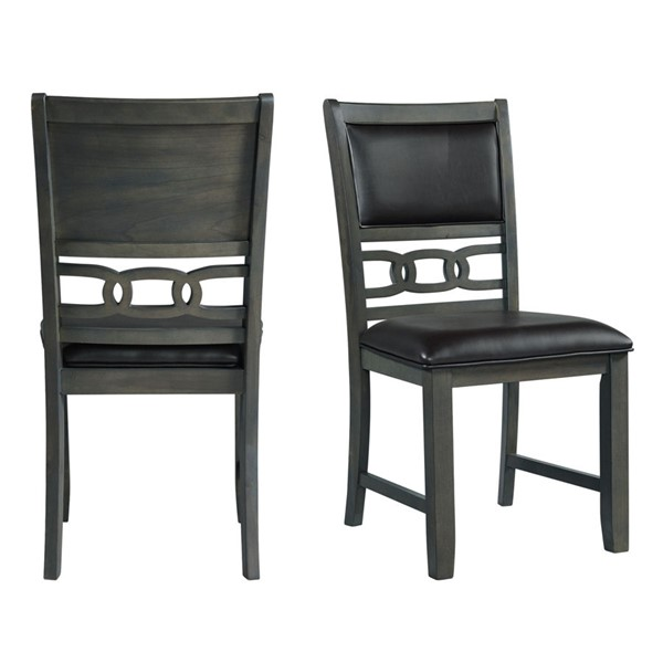 2 Picket House Taylor Gray Faux Leather Side Chairs PKT-DAH305SPC