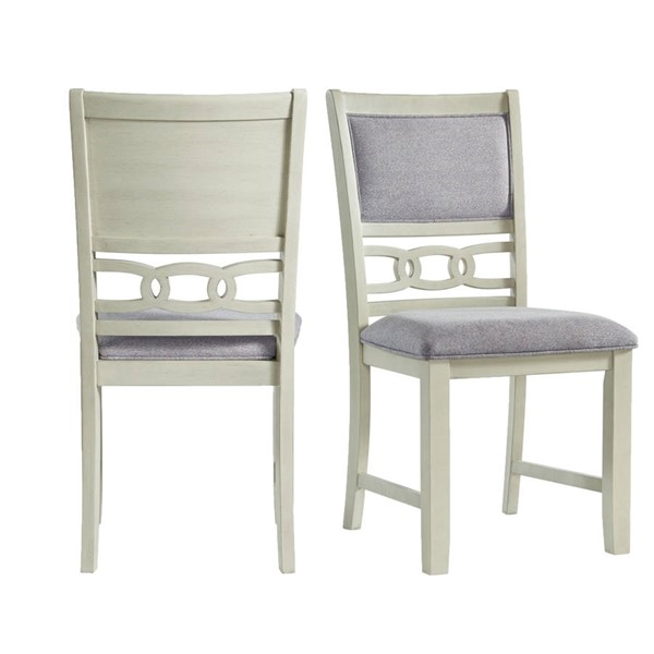 2 Picket House Taylor Bisque Gray Fabric Standard Height Side Chairs PKT-DAH700SC