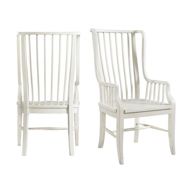 2 Picket House Cayman White Windsor Side Chairs PKT-DBS750SCE
