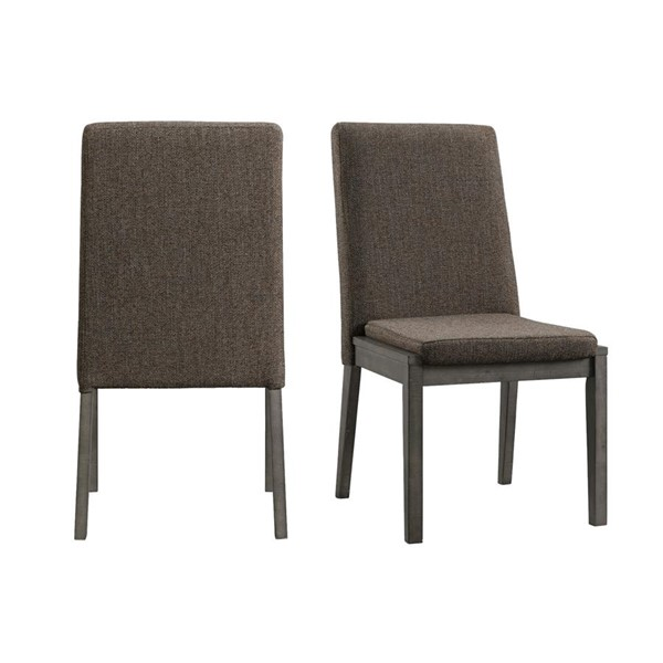 2 Picket House Hudson Gray Fabric Armless Side Chairs PKT-DCR500SCE