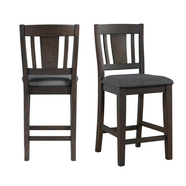 2 Picket House Carter Dark Gray Counter Height Side Chairs PKT-DCS100CC