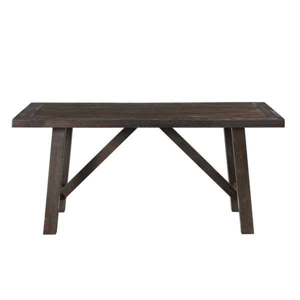 Picket House Carter Dark Gray Wood Rectangle Dining Table PKT-DCS100DT