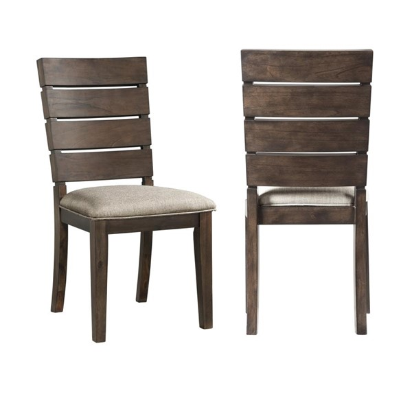 2 Picket House Murphy Dark Taupe Wood Slat Back Side Chairs PKT-DCT550SBC