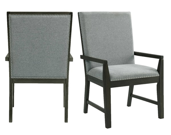 2 Picket House Holden Gray Arm Chairs PKT-DDV100AC