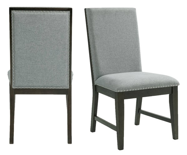 2 Picket House Holden Gray Side Chairs PKT-DDV100SC