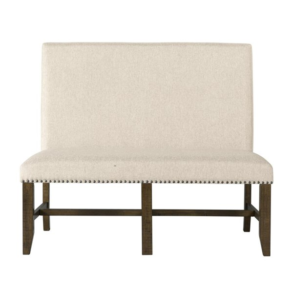 Picket House Francis Natural Fabric Upholstered Bench PKT-DFK100BN