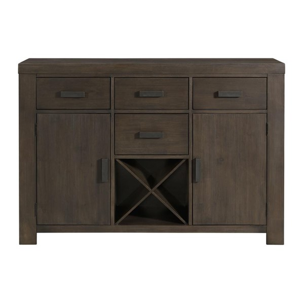 Picket House Jasper Dark Walnut Wood 4 Drawers Server PKT-DGD100SV