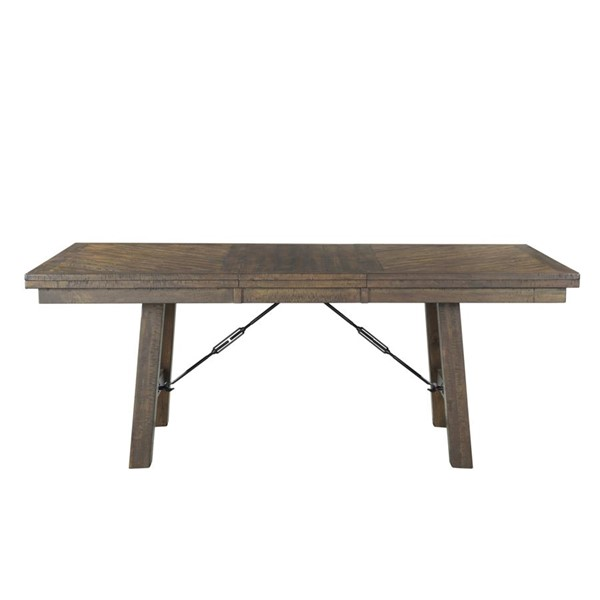 Picket House Dex Smokey Walnut Wood Rectangle Dining Table PKT-DJX100DTB