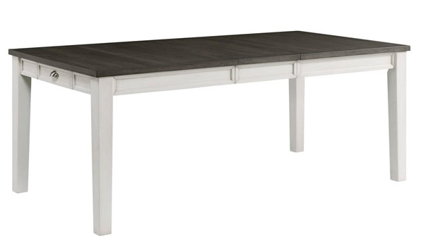 Picket House Jamison Gray White Two Tone Storage Dining Table PKT-DKY300DT