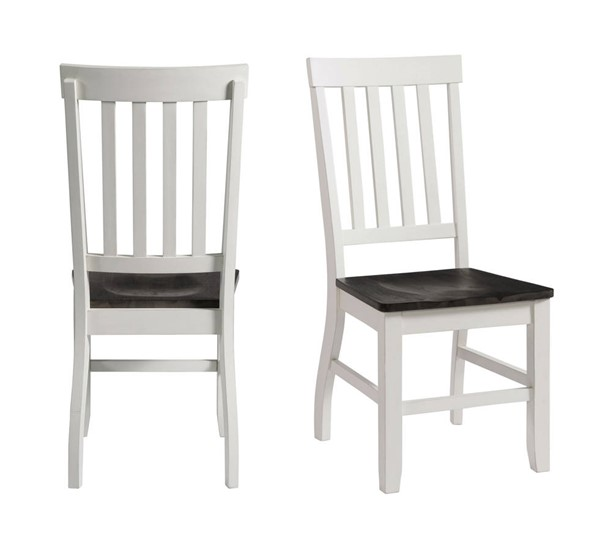 2 Picket House Jamison Gray White Two Tone Side Chairs PKT-DKY300SC