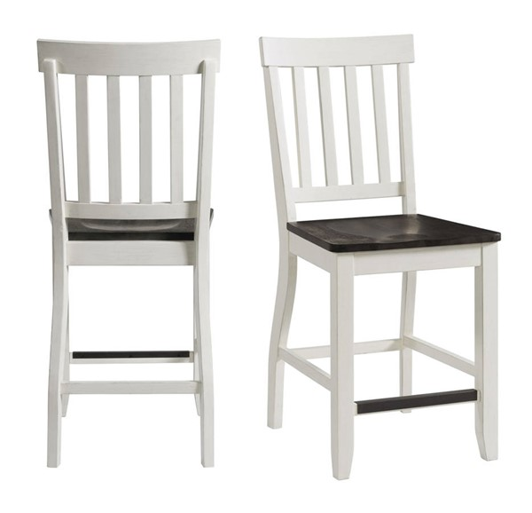 2 Picket House Jamison Gray White Two Tone Counter Height Side Chairs PKT-DKY350CSC