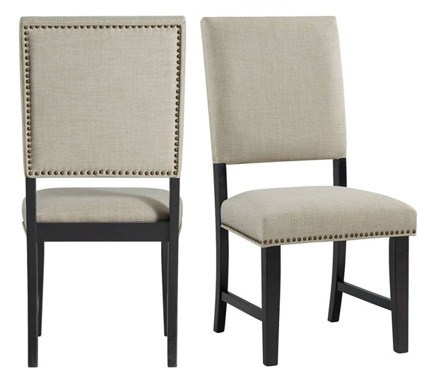 2 Picket House Mara Taupe Upholstered Side Chairs PKT-DMD100SC