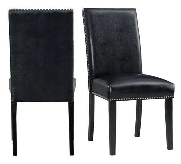 Picket House Pia Black Faux Leather Dining Side Chairs PKT-DMI-00-SC-VAR