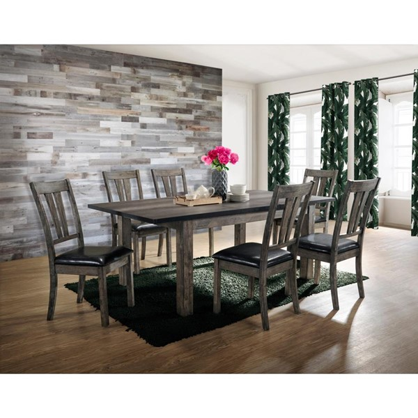 Picket House Grayson Grey Oak 7pc Dining Room Set PKT-DNH100CP7PC