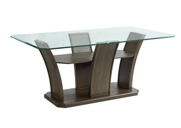 Picket House Simms Walnut Wood Rectangle Dining Table PKT-DPR500DTB