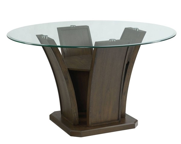 Picket House Simms Walnut Wood Round Dining Table PKT-DPR500RDTTB