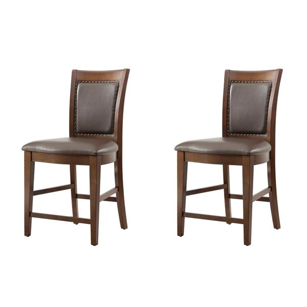 2 Picket House Pruitt Espresso Counter Height Side Chairs PKT-DPS100SC