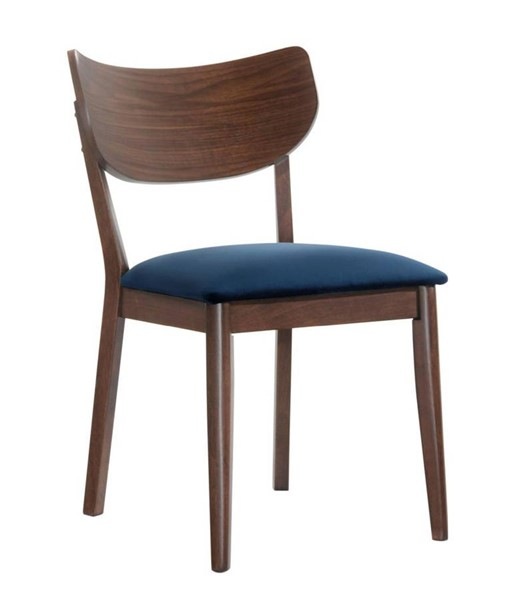 2 Picket House Rosie Navy Blue Fabric Armless Side Chairs PKT-DRB500SCNB
