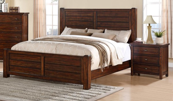 Picket House Danner Chestnut Wood 2pc Bedroom Set with Queen Panel Bed PKT-DS600-BR-S1
