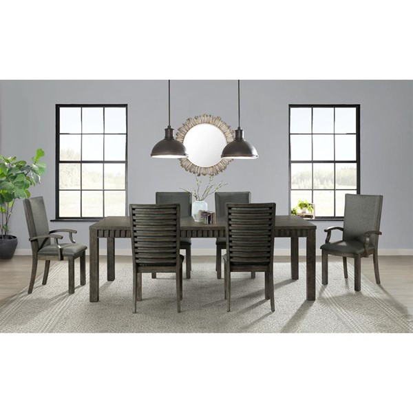 Picket House Montego Dark Walnut Wood 7pc Dining Room Set with Side Chairs PKT-DSB100AC7PC