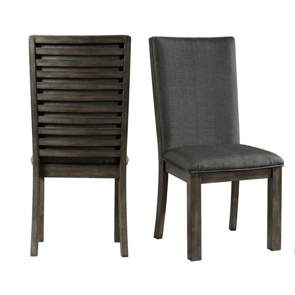 2 Picket House Montego Gray Fabric Side Chairs PKT-DSB100SC