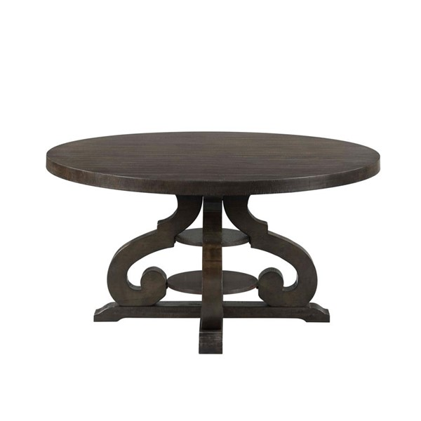 Picket House Stanford Smokey Walnut Round Dining Table PKT-DST180DT