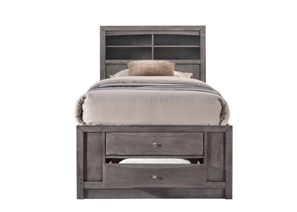 Picket House Madison Gray Wood Storage Twin Bed PKT-EG170TB