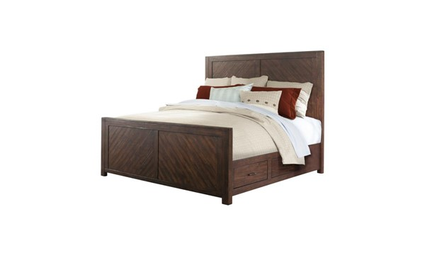 Picket House Dex Walnut Storage Queen Platform Bed PKT-JX600QB