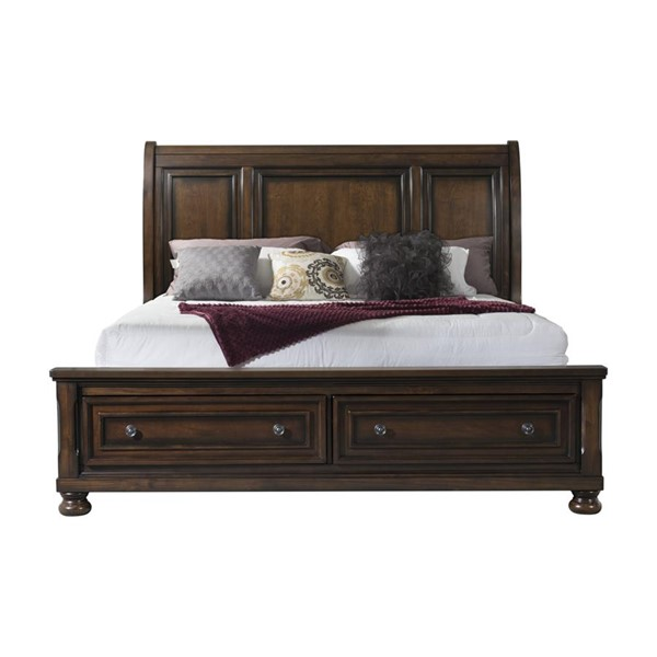 Picket House Kingsley Walnut Wood Storage Queen Bed PKT-KT600QB