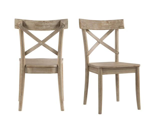 2 Picket House Keaton Beach X Back Wooden Side Chairs PKT-LCL100WSC