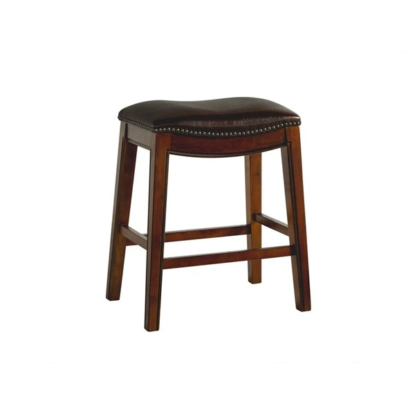 Picket House Bowen Brown 24 Inch Backless Counter Height Stool PKT-LFS100CSTBR