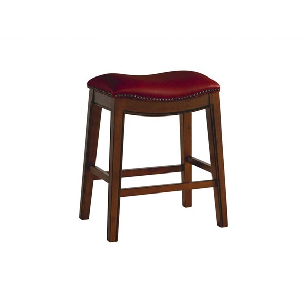 Picket House Bowen Red 24 Inch Backless Counter Height Stool PKT-LFS100CSTRD