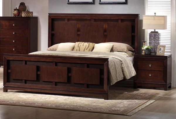Picket House Easton Cherry Wood 2pc Bedroom Set with King Panel Bed PKT-LN600-BR-S2